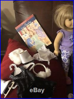 Huge American Girl Pleasant company Lot 3 Dolls, Outfits, Shoes, Skates, Books