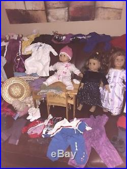 Huge American Girl Pleasant company Lot Dolls, Outfits, Dresses, Pets, Shoes