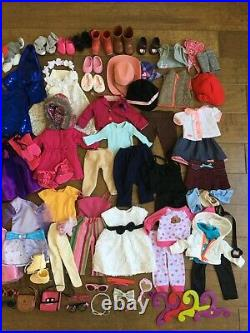 Huge Lot 18 Doll Clothes Shoes Outfits fits Our Generation Battat American Girl