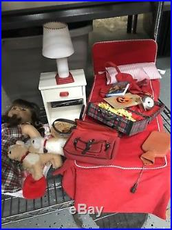 Huge Lot American Girl Molly Emily Outfits Dolls Furniture