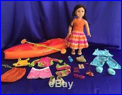JESS Retired 2006 American Girl Doll of the Year + Outfits + Kayak + Tree Swing
