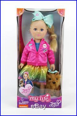 Jojo Siwa My Life As Doll 18 BowBow Plush Dog With CLOTHING SET CLOTHES 3 OUTFITS