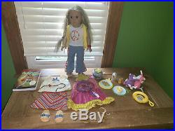 Julie Albright American Girl 18 Doll with 2 outfits, food, book, more! EUC
