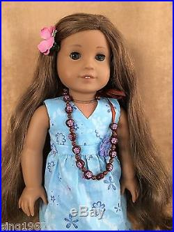 Kanani Doll American Girl of the year Complete meet outfit 2011 Hawaii dark skin