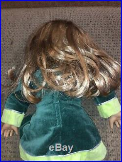 Kirsten Retired American Girl Doll Irish Dance Outfit Green Pre-Owned