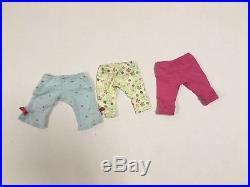 LOT American Girl BITTY BABY Doll, Backpack, Outfits, Blankets, Shoes, EUC