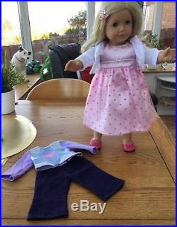 Last Chance For This One! American Girl Doll With Agd Outfit And Dress (other)