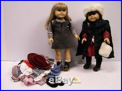 Lot Of 2 American Girl Dolls- Samantha & Kirsten With 4 Extra Outfits FREE S&H