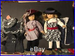 Lot of 2 American Girl Doll 2008 WITH Outfit And Coats