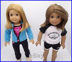 Lot of Two American Girl Dolls 18 With Extra Outfits