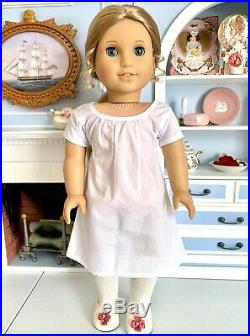 MINT American Girl Doll ELIZABETH with meet outfit, box, tag, HC book, earrings+