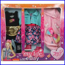 My Life Jojo Siwa Doll Clothing Set 3 Pack Outfits Clothes Fits American Girl