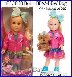 My Life as 18 JOJO Siwa DOLL+Bow-Bow Dog +BONUS 3 Complete Clothing Outfits Set