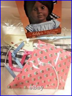 NEW AMERICAN GIRL ADDY KITE FLYING OUTFIT NO DOLL AKO Burgundy Box