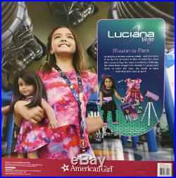 NEW American Girl 18 inch Luciana Doll Book/Telescope/Outfit/Boots Accessories