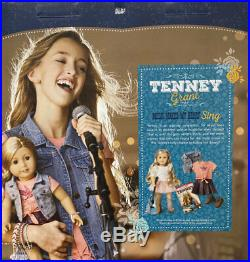 NEW American Girl 18 inch Tenney Doll with Book/Guitar/Outfit/Boots Accessories