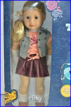 NEW American Girl 2017 TENNEY GRANT Doll Book Spotlight Outfit Guitar HUGE BOX