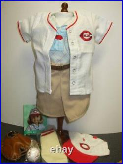 NEW American Girl Kit's Reds Fan Baseball Outfit-Retired