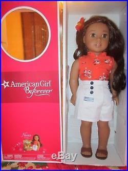 NEW American Girl Nanea 18 1941 BeForever Hawaiian Doll + Meet Outfit