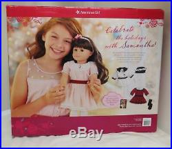 NEW American Girl Samantha Doll Gift Set Exclusive Retired Holiday Outfits NRFB