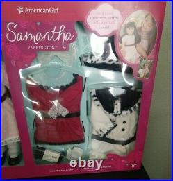 NEW American Girl Samantha Doll Gift Set Holiday Outfits Party Dress Fancy Coat