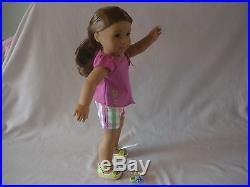 NEW KANANI AMERICAN GIRL DOLL LONG BROWN HAIR GREEN EYES With NEW AG OUTFIT CUTE