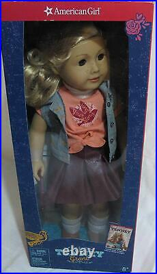 NEW in Box American Girl 18 Tenney Grant Doll Book Outfit Blonde Hair Musician