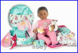 NIB American Girl Bitty Baby Starter Set Doll Accessories Outfit Case Dark Skin