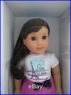 NIB American Girl Doll Grace, City Outfit & Bon Bon Dog Lot New GOTY 2015
