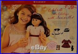 NIB American Girl Doll Samantha Limited Edition Holiday/Christmas Set 3 Outfits