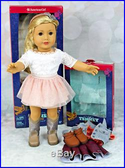 NIB American Girl Doll TENNEY Grant with Spotlight Outfit and Meet Outfit Boxes