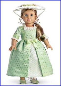 NIB American Girl Elizabeth Summer Gown Outfit with Hat, Slippers NEW