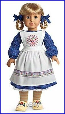 NIB American Girl Kirsten Baking Outfit with Swedish Apron, Embellished Shoes NEW