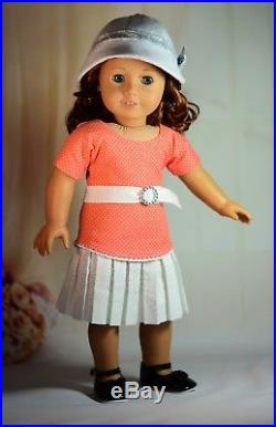 Nancy Drew 30's Sleuth Dress Outfit for 18 American Girl Doll 5 pc