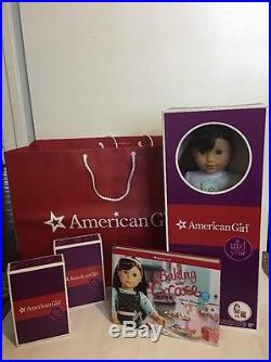 New! AMERICAN GIRL GRACE THOMAS Doll BAKING OUTFIT Baking With Grace Book Kit +