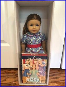 New! American Girl Emily Retired Doll NIB With Outfit Headband Book Accessories