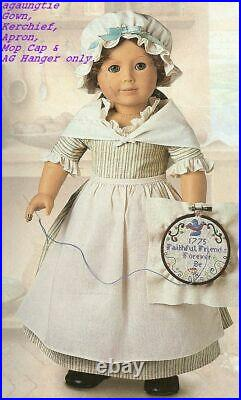 New American Girl Felicity WORK GOWN Complete Outfit Addy Kirsten Samantha
