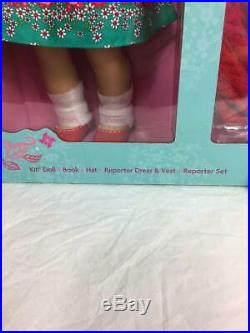 New American Girl Kit DollReporter OutfitAccessoriesDeluxe Gift Box SetHat