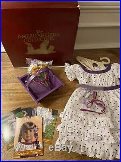 New NRFB American Girl Doll Kirsten Midsummer Outfit Dress Complete Box Retired