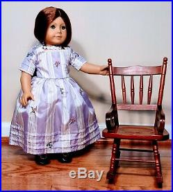 Nice! Retired American Girl Doll Felicity and Meet Outfit + Colonial Chair