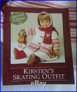 PLEASANT COMPANY American Girl Doll Kirsten's SKATING OUTFIT Complete