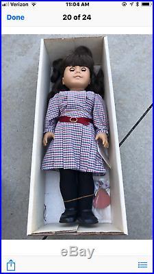 PLEASANT COMPANY American Girl Samantha Parkington DOLL 1991 with hat pin outfit