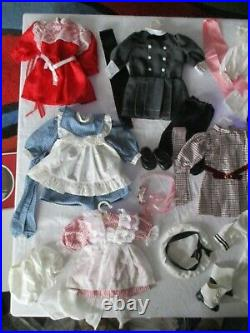 PLEASANT CO SAMANTHA (WHITE BODY) American Girl Lot with 9 Outfits & Dress Form