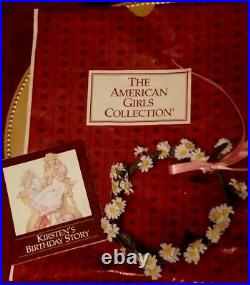 Pleasant Company 1989 Kirsten Birthday Outfit Dress Wreath & 1st Edition Book