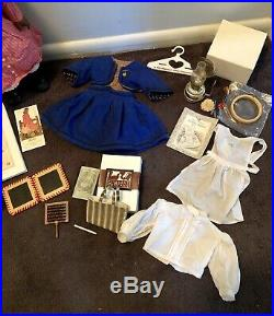 Pleasant Company Addy Doll Lot Needlework Satchel School Outfit American Girl