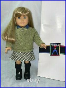Pleasant Company American Girl 18 Doll Blonde Hair Blue Eyes w Box Plaid Outfit