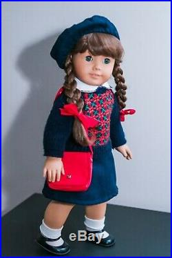 Pleasant Company American Girl Doll Molly WHITE BODY Meet Outfit Accessories 90