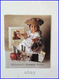 Pleasant Company American Girl Felicity summer gown outfit + Box 1992 retired
