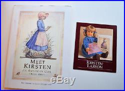 Pleasant Company American Girl Kirsten Doll in Original Outfit with box & book