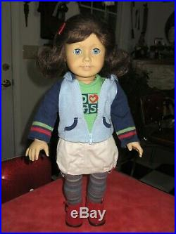 Pleasant Company American Girl Lindsey Bergman Doll in Full Meet Outfit VGC